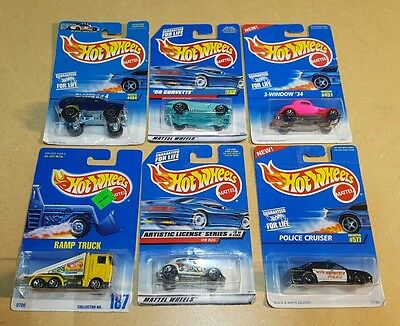 Hot Wheels 6pc Lot Die Cast Cars 2B