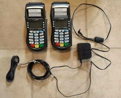 Hypercom M4230 Wireless Debit And Credit Card Terminal 2x Terminal