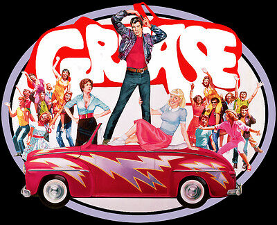 70's Travolta Classic Grease Poster Art custom tee Any Size Any Color