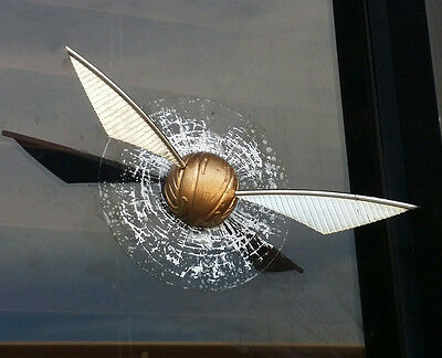 Golden Snitch Window Splat