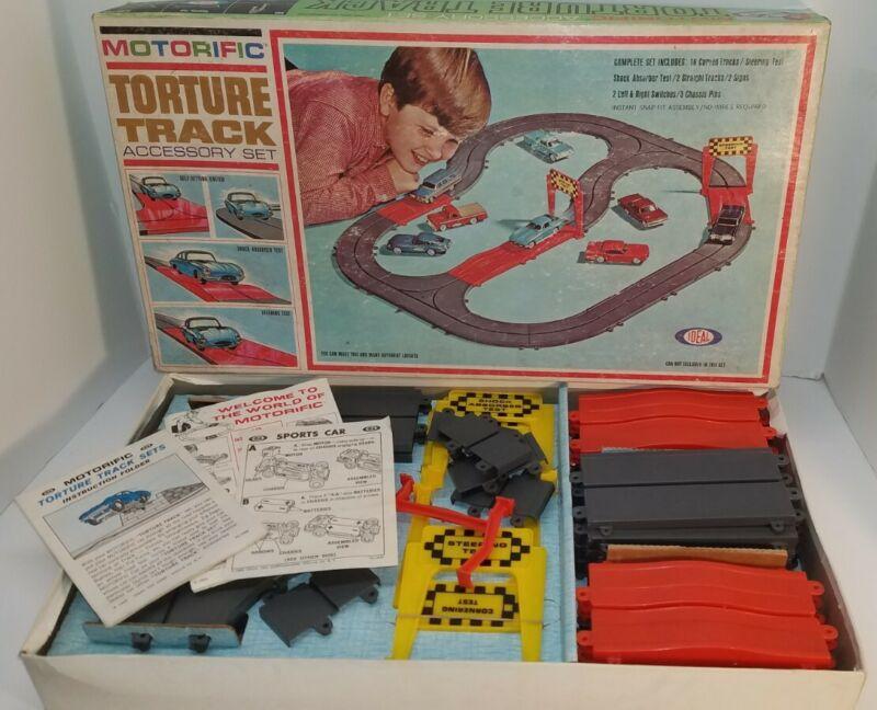 Vintage 1965 Ideal Motorific Torture Track race car Accessory Set