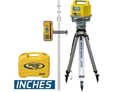 Spectra Precision Ll500 Laser Level Hl700 Receiver Tripod Grade Rod Inches