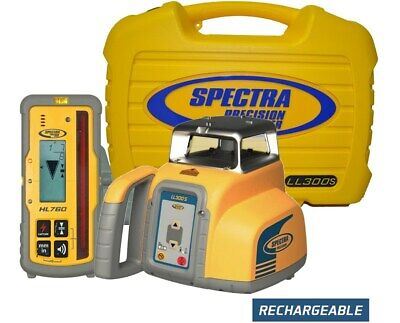 Spectra Precision Ll300s Construction Rotary Laser Level Hl760 Receiver Remote