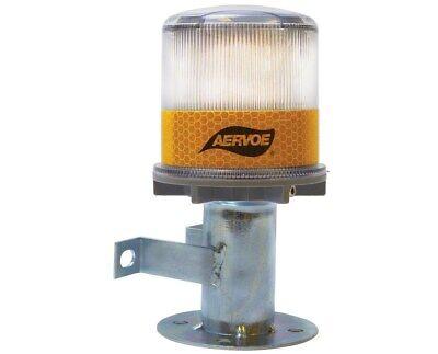 Aervoe Led Mountable Emergency Traffic Solar Strobe Warning Signal Light
