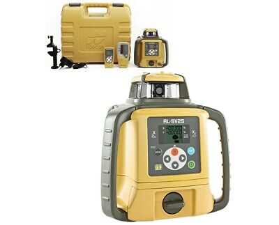Topcon Rl-sv2s Dual Slope Rotary Laser Level With Ls-80l Receiver And Remote