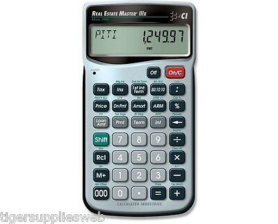 Calculated Industries Real Estate Master IIIX 3405 Financial Calculator