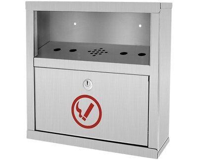 Alpine Industries Stainless Steel Quick Clean Cigarette Butt Disposal Tower Bin