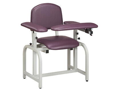 Clinton 66020 Lab X Series Blood Drawing Chair Padded Flip Arm Drawer Cappuccino