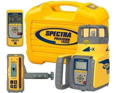 Spectra Precision Self-leveling Gl622 Dual Grade Laser Hl750 Receiver Remote