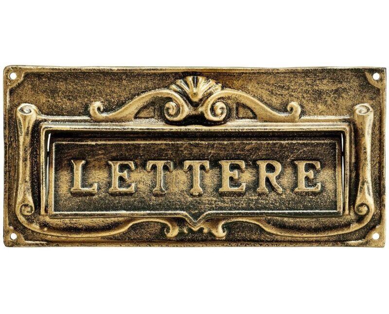 AdirHome Bronze Aluminum Fabulous Italian Through-Door Mail Slot 631-0807-BRZ