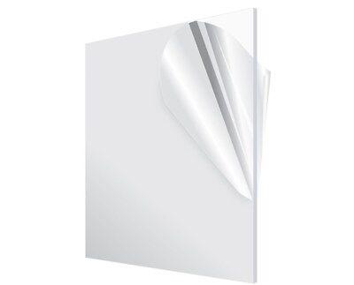 Adiroffice Diy18 In.thick X 24 In. X 24 In. Plexiglass Clear Acrylic Sheet