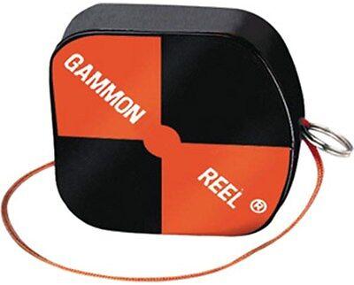 Gammon Reel 12ft Hi-Vis Black & Orange for Plumb Bob, Contractor and Surveying