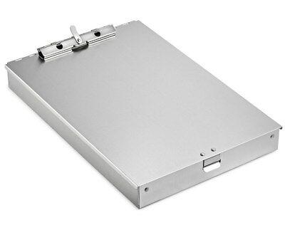 Adiroffice Aluminum Form Blueprint Plans Paper Storage 2 Compartment Clipboard