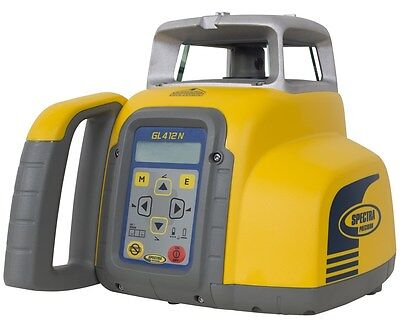 Spectra Gl412n Self-leveling Single-slope Laser Level Kit Whl760 Receiver