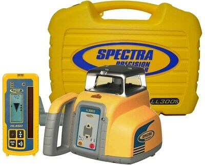 Spectra Precision Ll300s Self-leveling Rotary Laser Level W Hl450 Receiver