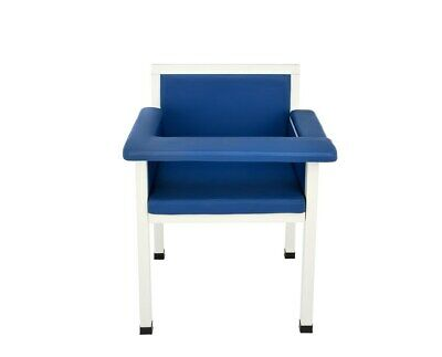 Adirmed Blue 21.5 In Wide Seat Faux Leather Phlebotomy Blood Draw Chair