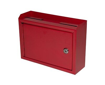 - AdirOffice Red Slot Drop Box Steel Safe Letter Cash Mail Box