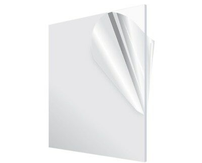 Adiroffice Clear Plexiglass 18 In.thick X 24 In. X 36 In. Diy Acrylic Sheet