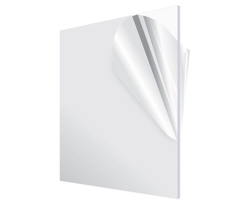 Adiroffice Clear Plexiglass 1/8 in.Thick  x 24 in. x 36 in. DIY Acrylic Sheet