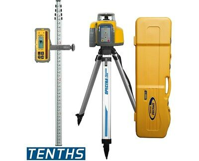 Spectra Precision Ll300s Rechargeable Rotary Laser Level Receiver Tripod Rod