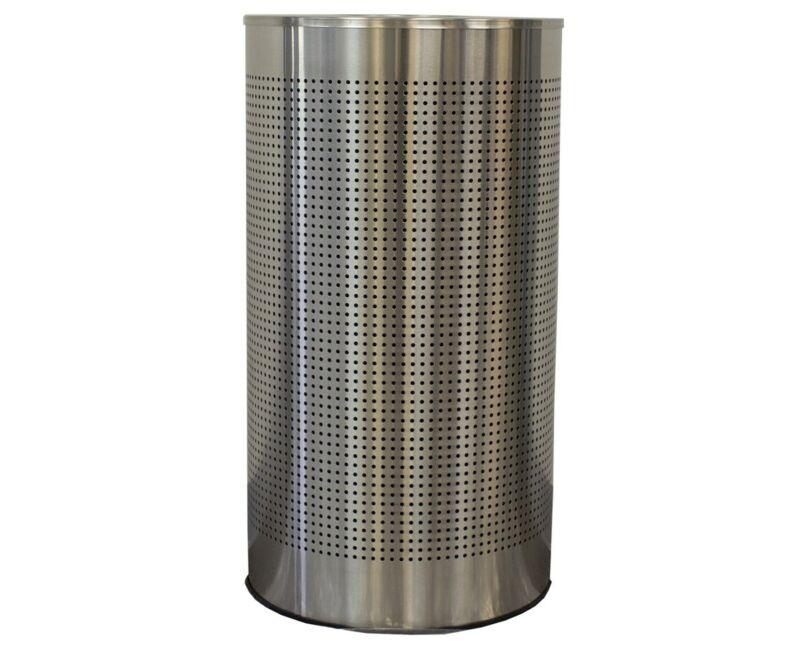 Witt Industries 12 gal Stainless Steel Half-Round Celestial Waste Receptacle