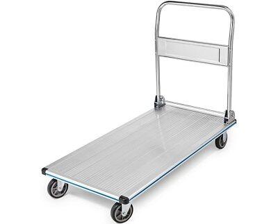- AdirOffice Silver Aluminum 600 lb Capacity Folding Platform Truck 48'' x 24''