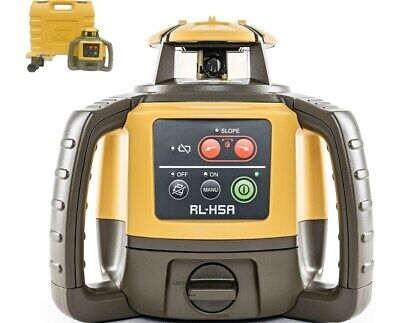 Topcon Rl-h5a Rotary Laser Receiver W Hard Carrying Case Brand New