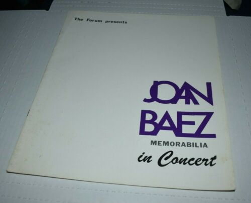 JOAN BAEZ 1968 TOUR Concert Program Booklet The Forum Los Angeles
