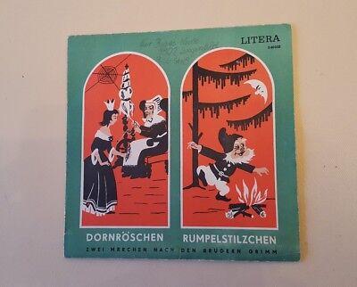 DDR/Single: Dornröschen/Rumpelstilzchen-LITERA-1971