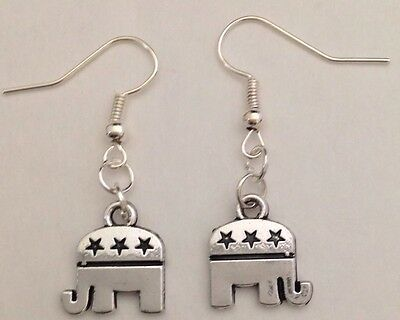 Republican Elephant Earrings Charm President Trump Inauguration Patriotic