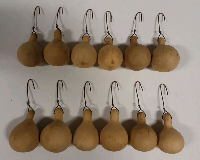 12☆PRiMiTiVE☆FarmHouse☆Country☆Homestead☆Christmas☆Gourd Ornies☆Ornaments☆☆