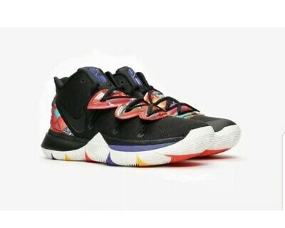 Nike Kyrie 5 CNY Basketball Men's Trainers Black/Multi AO2918-010 uk 12 Eur 47.5