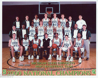 Michigan State Spartans 8x10 Photo (1999-2000 MICHIGAN STATE SPARTANS NATIONAL CHAMPIONS 8X10 TEAM PHOTO)