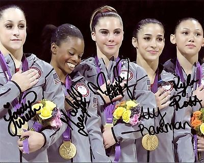 2012 Olympic Gymnastics Gabby Douglas Wieber Signed Autographed 8X10 Photo Rp