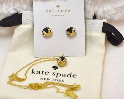 Kate Spade Owl Earrings and Necklace Set