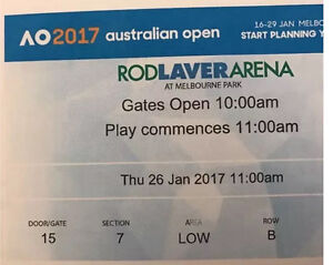 Australian open women semifinal Thursday 26,section 7 row B Glen Waverley Monash Area Preview