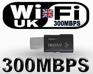 WIFI 300Mbps WIRELESS ADAPTOR 802.11 B G N LAN NETWORK USB DONGLE ADAPTER WPS