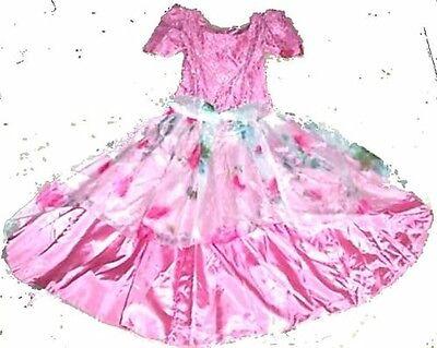 Pink Taffeta A Line Cinderella Dress Princess Dress 4 Halloween Size 1, 3 or 5? - Pink Halloween Line