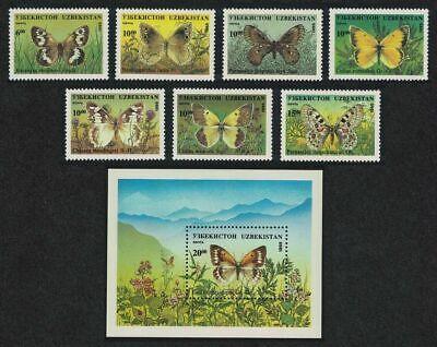 Uzbekistan 1995. Fauna. Butterflies and Moths. MNH**