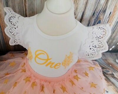 baby girl first 1st birthday outfit cake smash photo shoot tutu tiara princess