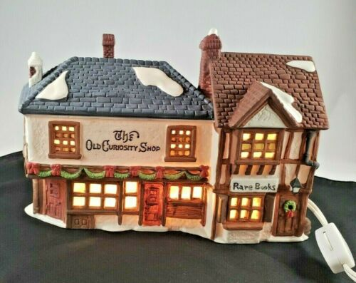 Xmas Village 59056 Retired Dickens 1987 The Old Curiosity Shop and Rare Books