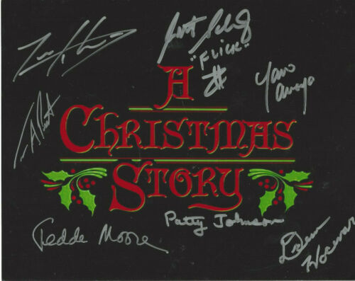 A Christmas Story autographed 8x10 photo 7 signatures JSA Certified