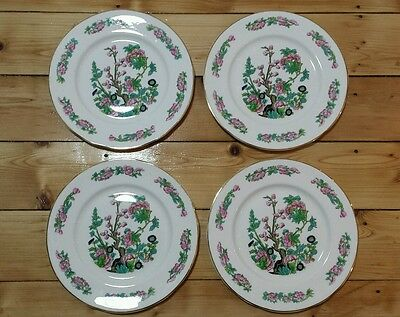 4  Fenton China Company Indian Tree Bone China Dinner Plates