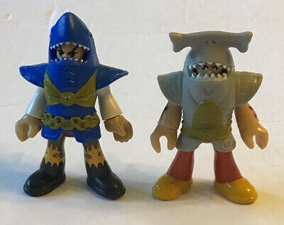 Fisher Price Imaginext Pirate Lot Of 2 Pirates Figures With Shark Tunics Lot #2