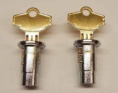 2 New Lock Keys For Northwestern Oak Komet Eagle Gumball Vending Machine