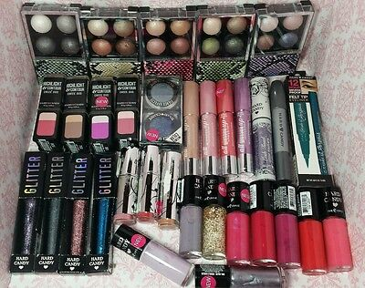 LOT 20 Hard Candy MIX Makeup NO DUPLICATES Wholesale NEW GREAT CONDITION lip eye