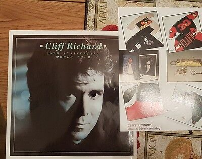 CLIFF RICHARD 1987 30th Anniversary tour programme. Plus merchandise sheet.