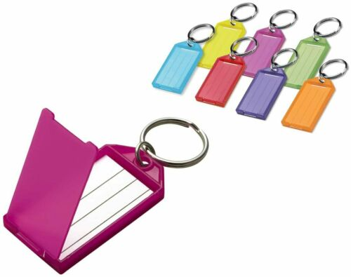 Lucky Line 60502 I.D. Key Tag With Flap & Split Ring 10 Count Assorted Colors