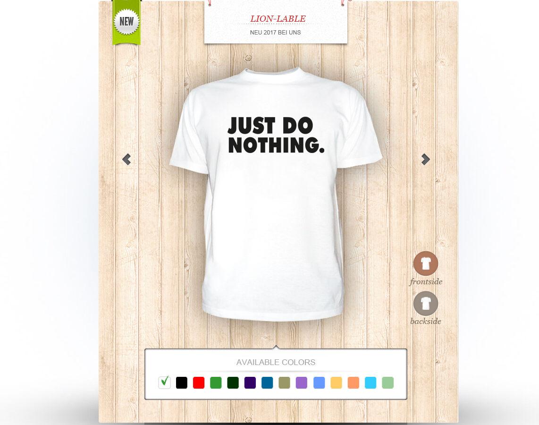 T-shirt - Just Do Nothing - Tshirt mit druck