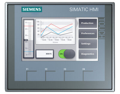Siemens Simatic 6av2123-2db03-0ax0 Touch Panel Hmi Ktp400 Basic 6av21232db030ax0
